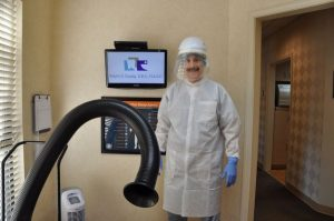 spraying systems that electrify a disinfectant solution